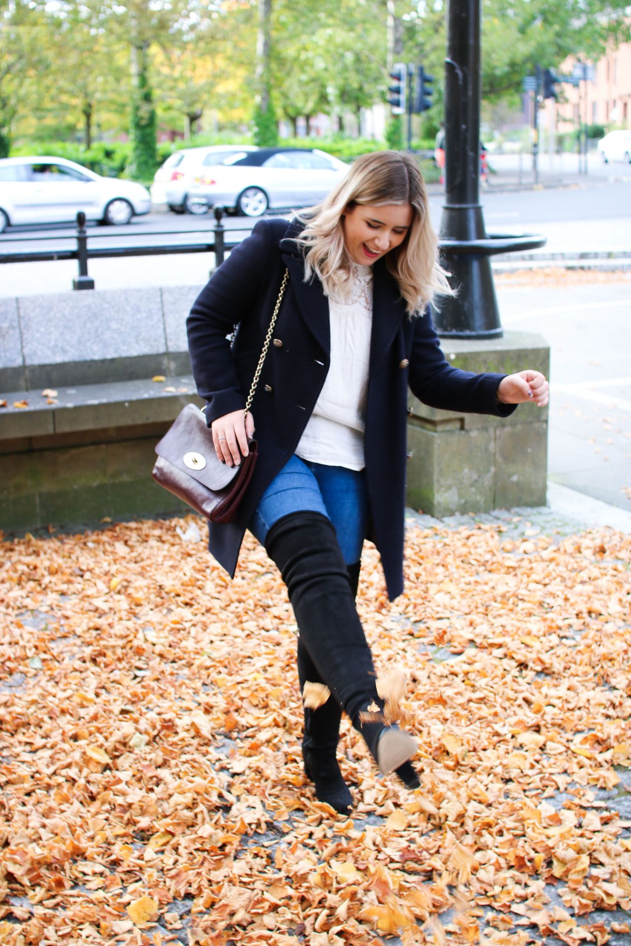 autumn fall style over the knee boots