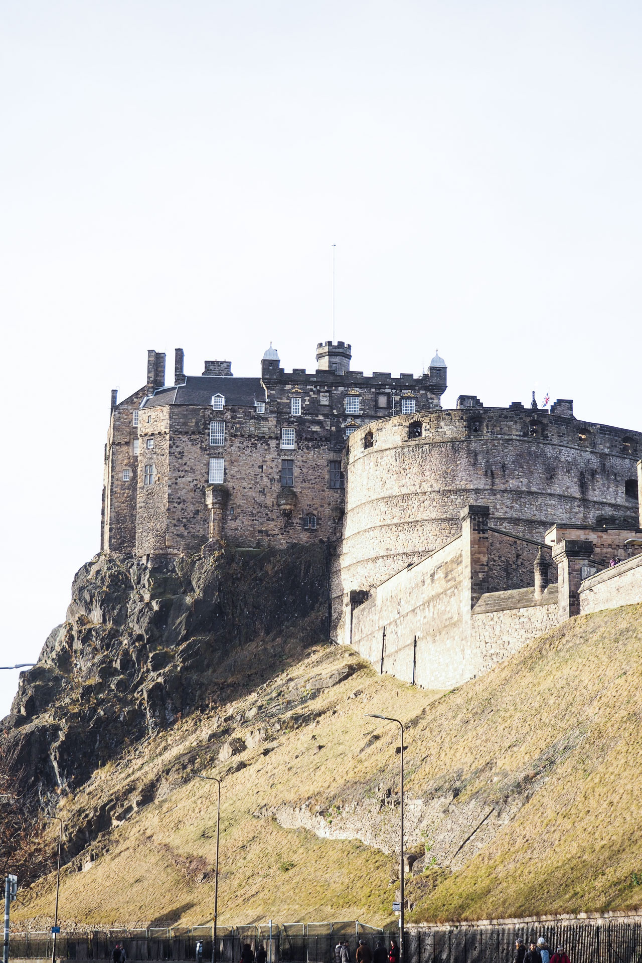 edinburgh castle. edinburgh at christmas