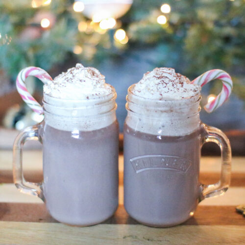 nutella and baileys hot chocolate recipe. Christmas festive hot drink