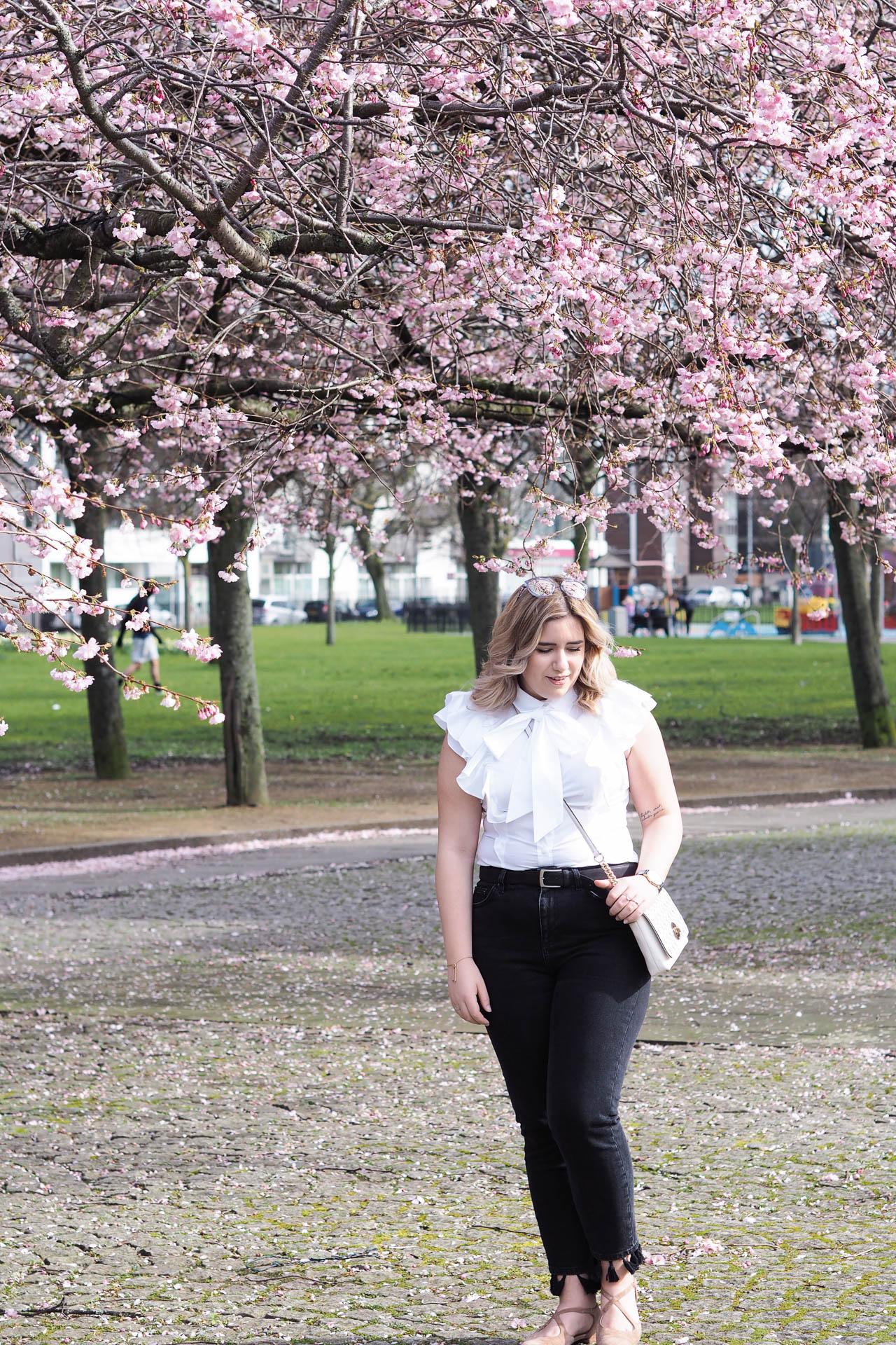 spring fashion white shirt