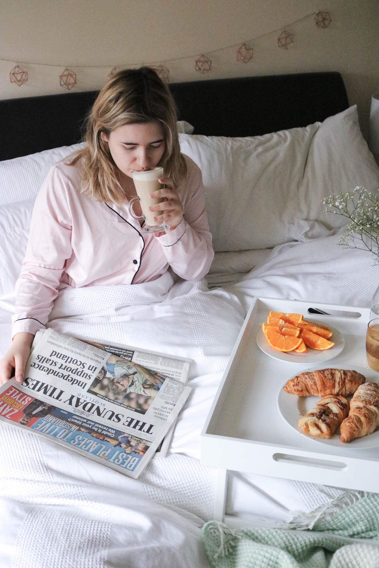 sunday post - breakfast in bed